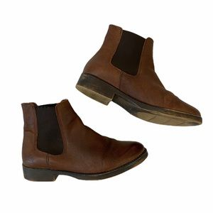 Coolway Brown Leather Chelsea Boots